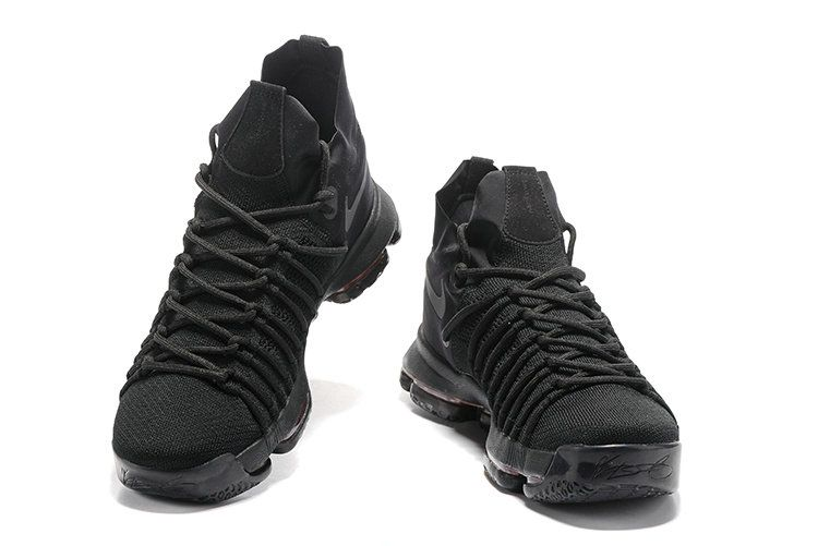 low priced 8ae38 ceefc June Latest New Arrival All Black KD 9 IX Elite Triple Black Cheap For Sale