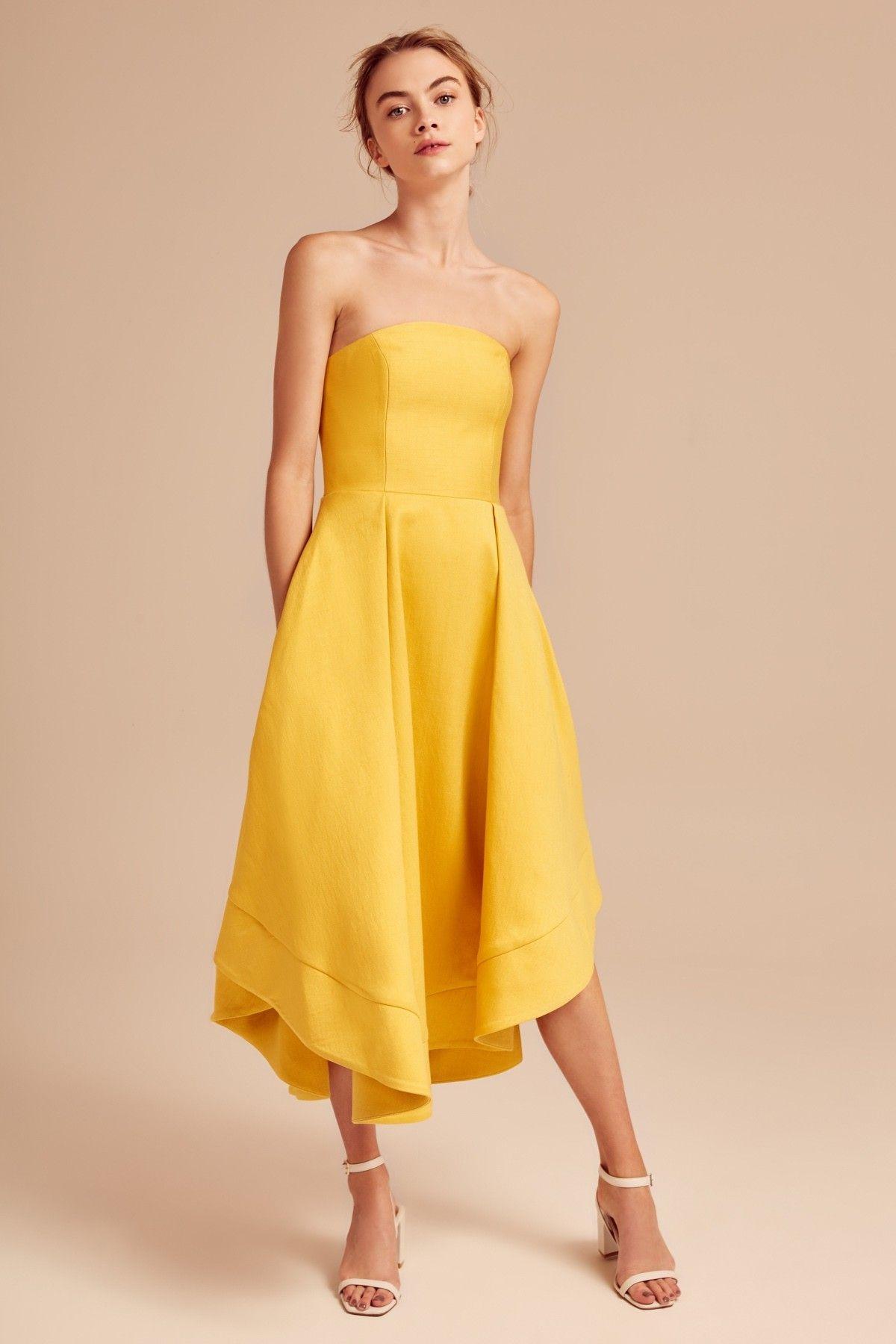 Making Waves Dress Yellow Yellow Strapless Dress Cocktail Dress Yellow Yellow Prom Dress Long [ 1800 x 1200 Pixel ]