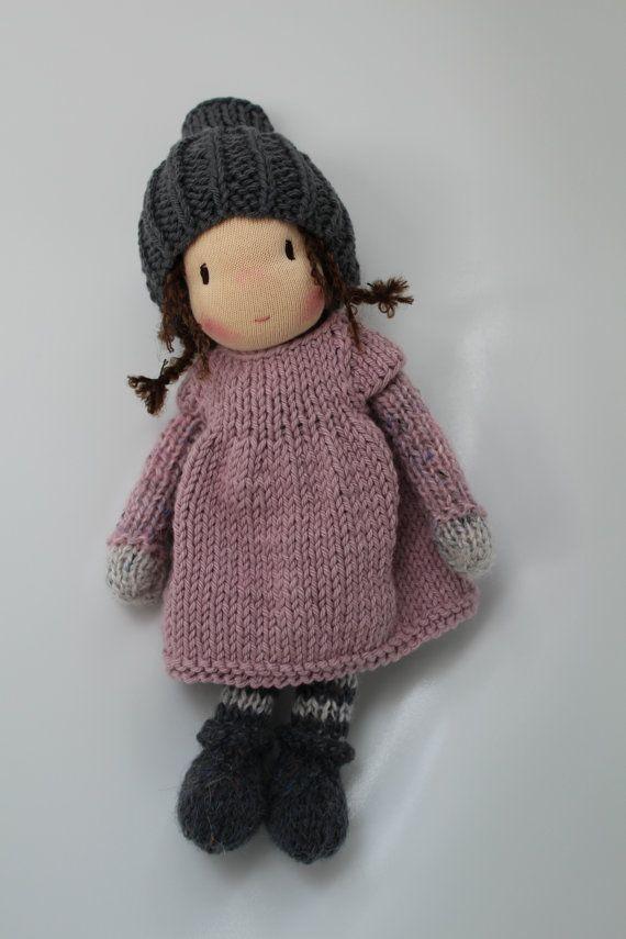 Waldorf doll, Waldorf knitted doll - Robin - Eco doll ( 10 inch / 25 ...