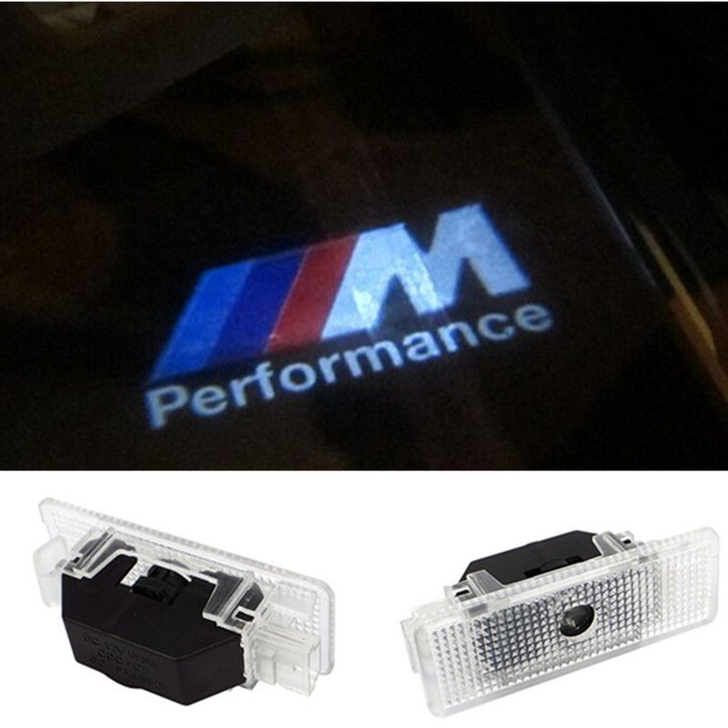 2 pcsX 유령 그림자 빛 레이저 프로젝터 조명 LED 자동차 로고 BMW E39 X5 E53 M 성능