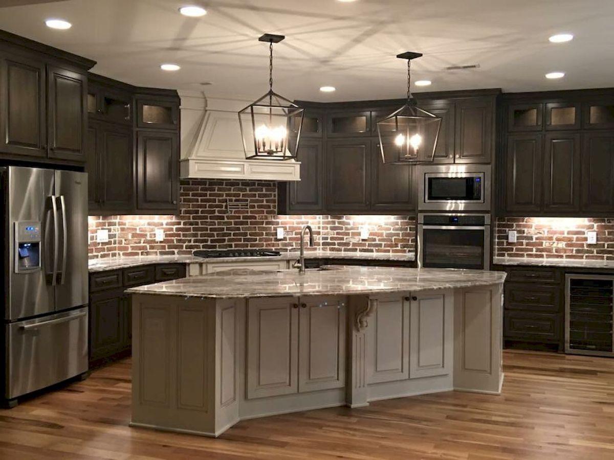 Gorgeous Kitchen Backsplash Decor With Dark Cabinets 45  Kitchen Impressive Kitchen Designs Dark Cabinets Decorating Inspiration