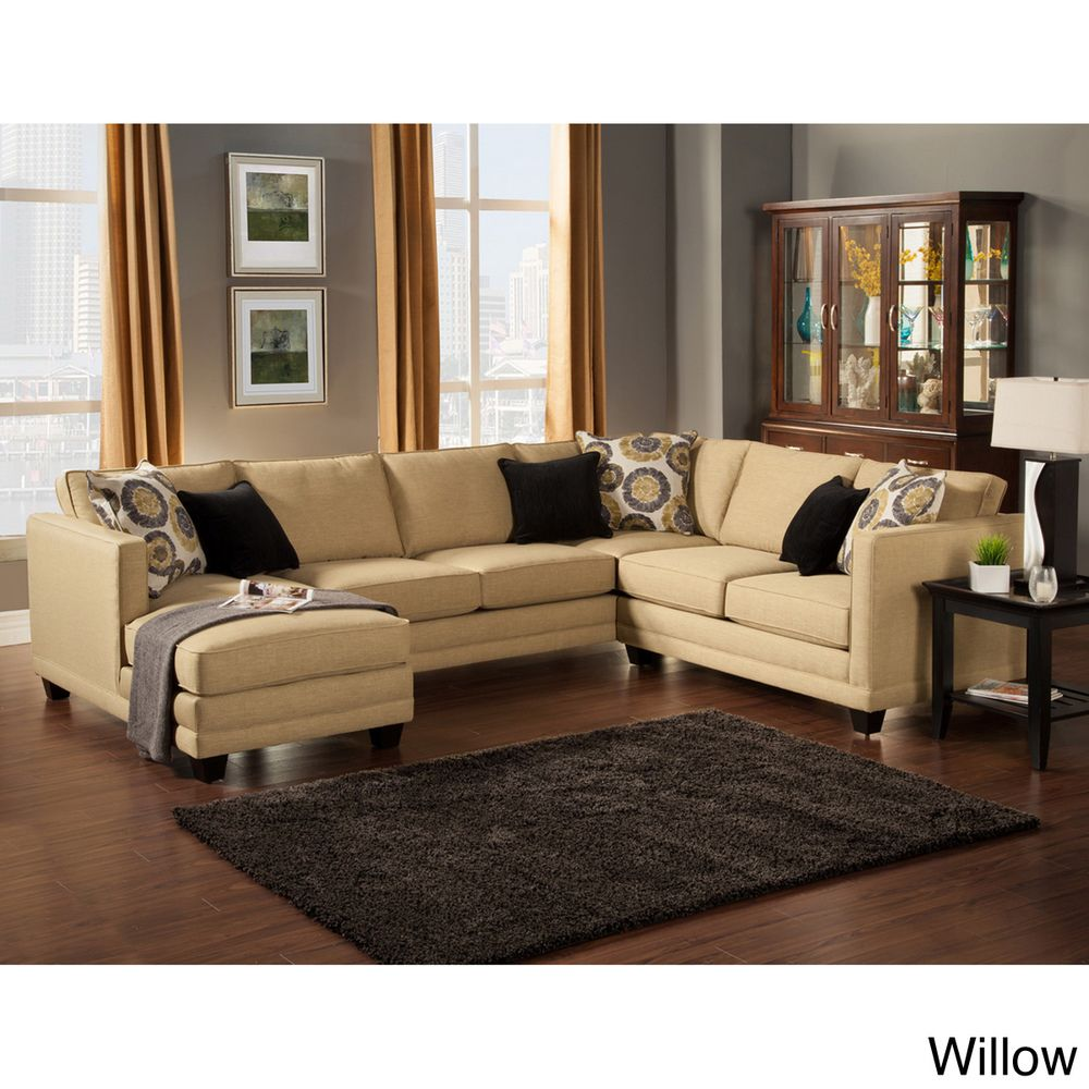 Furniture Of America U0027Zeal Lavishu0027 Contemporary 3 Piece Fabric Upholstered  Sectional (Teal), Blue