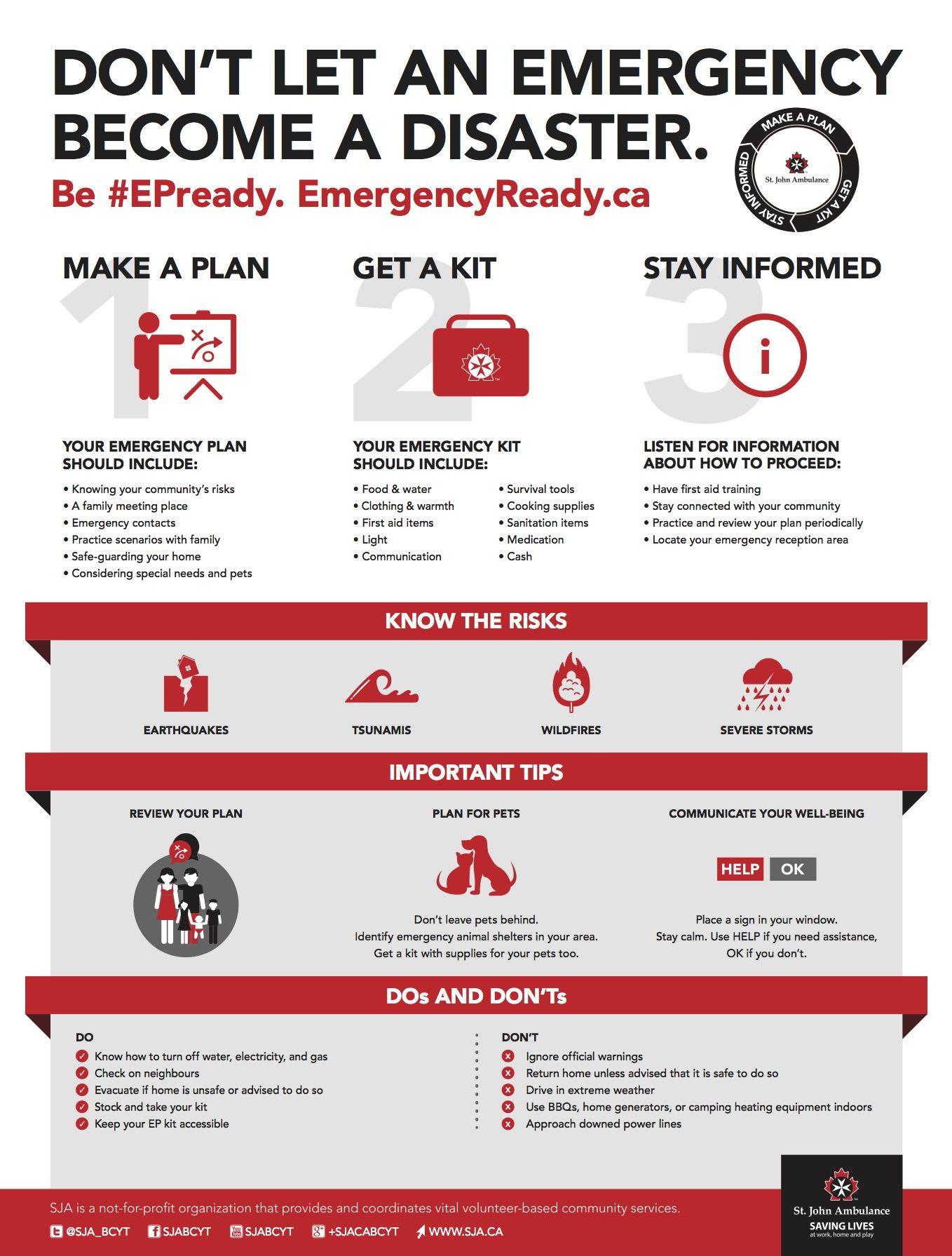 Contest St John Ambulance Prepares Vancouver For Ep Week Emergency Plan Emergency Emergency Preparedness