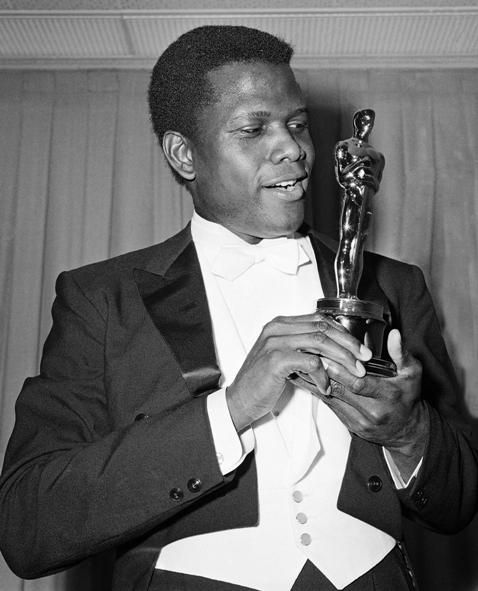 Sidney Potier wins the Oscar for Best Actor in a Leading