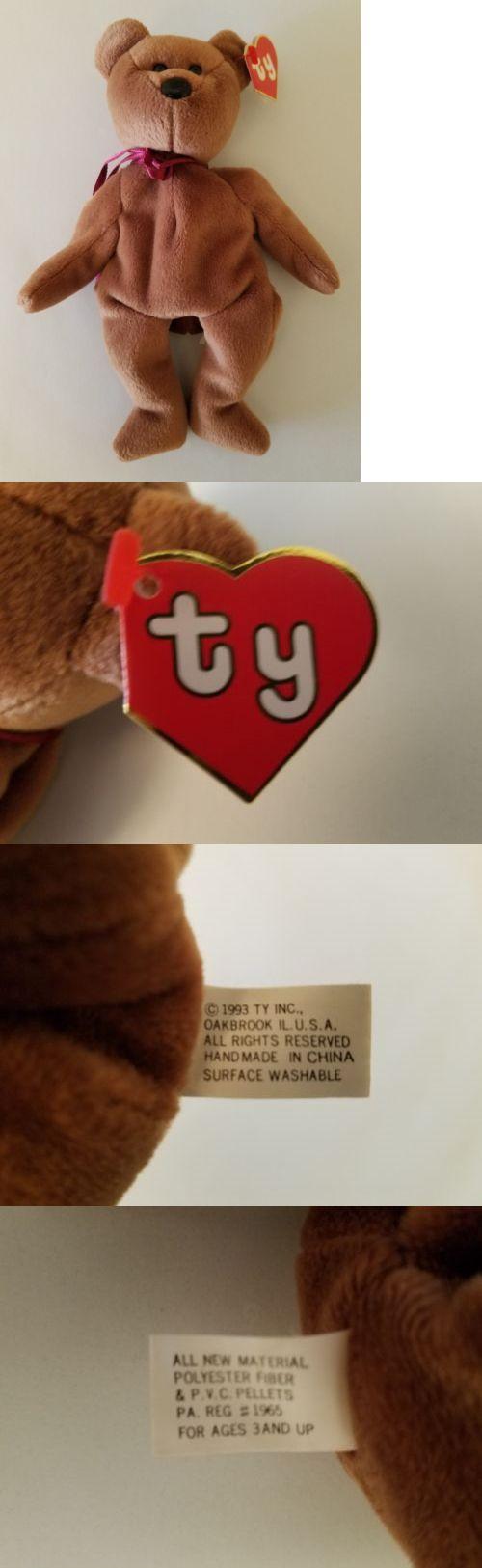 af878454936 Ty 19203  Ty Beanie Baby Teddy (Brown