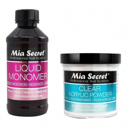 Mia Secret Professional Liquid Monomer 4 Oz Clear Acrylic Powder 4 Oz Nail System 1 Pair Of Earrings Walmart Com Acrylic Nail Powder Acrylic Nail Kit Acrylic Powder