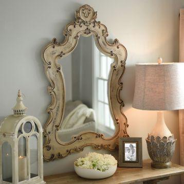 Colette Antique White Venetian Mirror Add Elegance With A Mirror