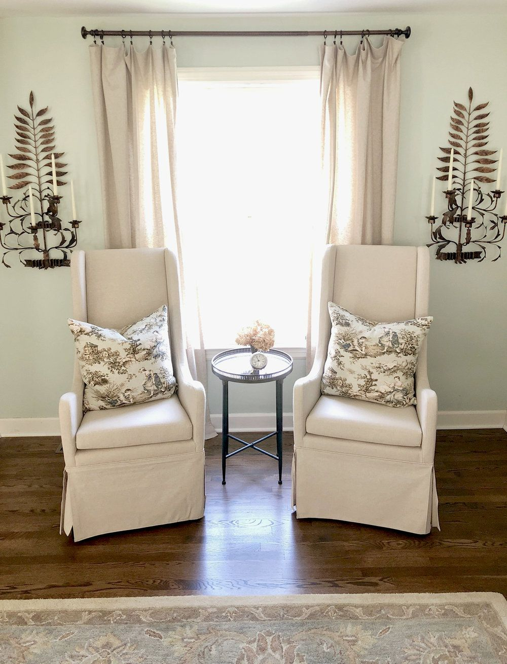 Seating Arrangment In Window French Country Master Bedroom Beth Hart Designs