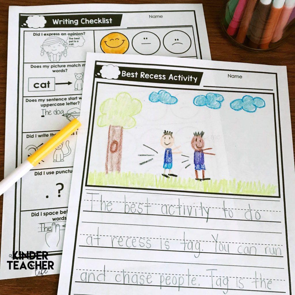 Opinion Writing In Kindergarten