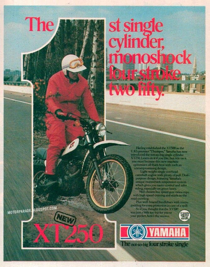 Racing Cafè: Vintage Brochures: Yamaha XT 250 1981 (UK)