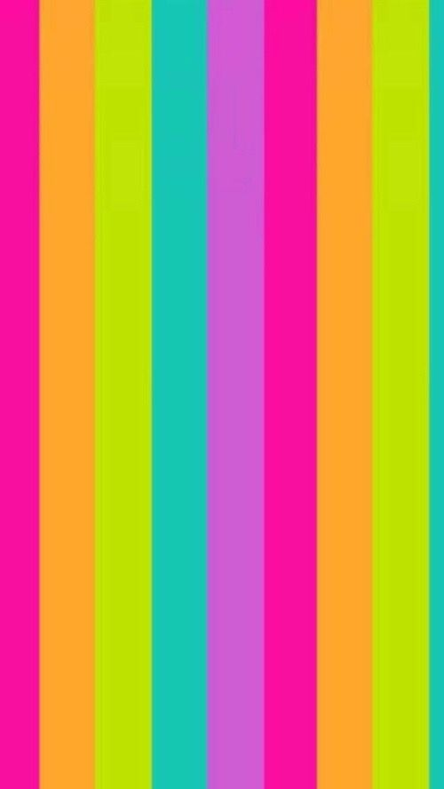 Striped Neon Colors IPhone Wallpaper