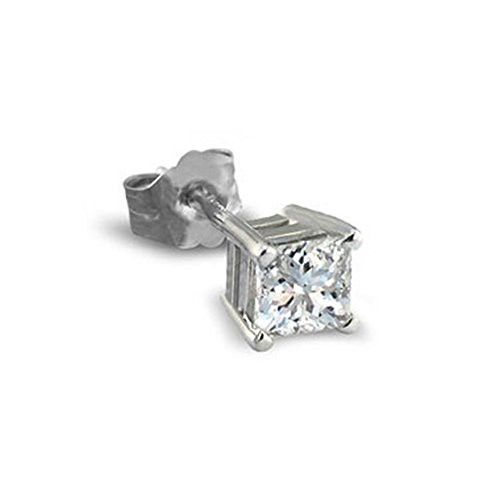 Parikhs Princess Single Diamond Stud Promo Quality In White Gold 0 02 Ctw