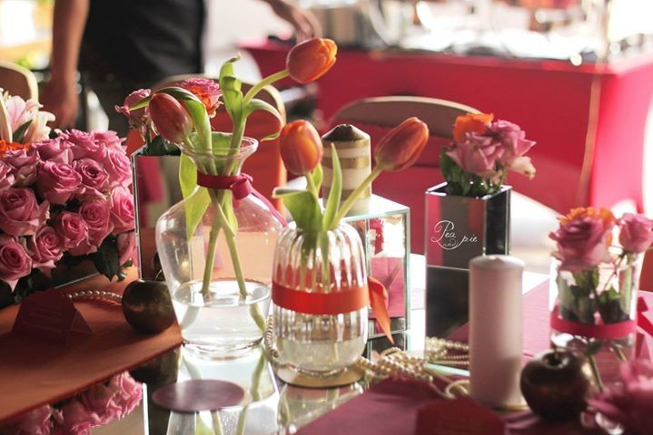 Stunning Orange And Red Wedding Table Decoration Details Project By Pea Pie Http