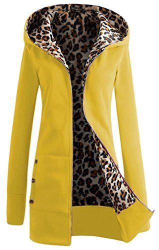 Veste a capuche jaune femme