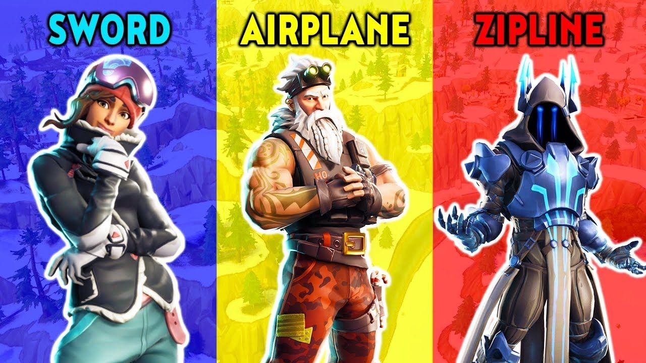 INFINITY BLADE vs AIRPLANE vs ZIPLINE Fortnite Battle