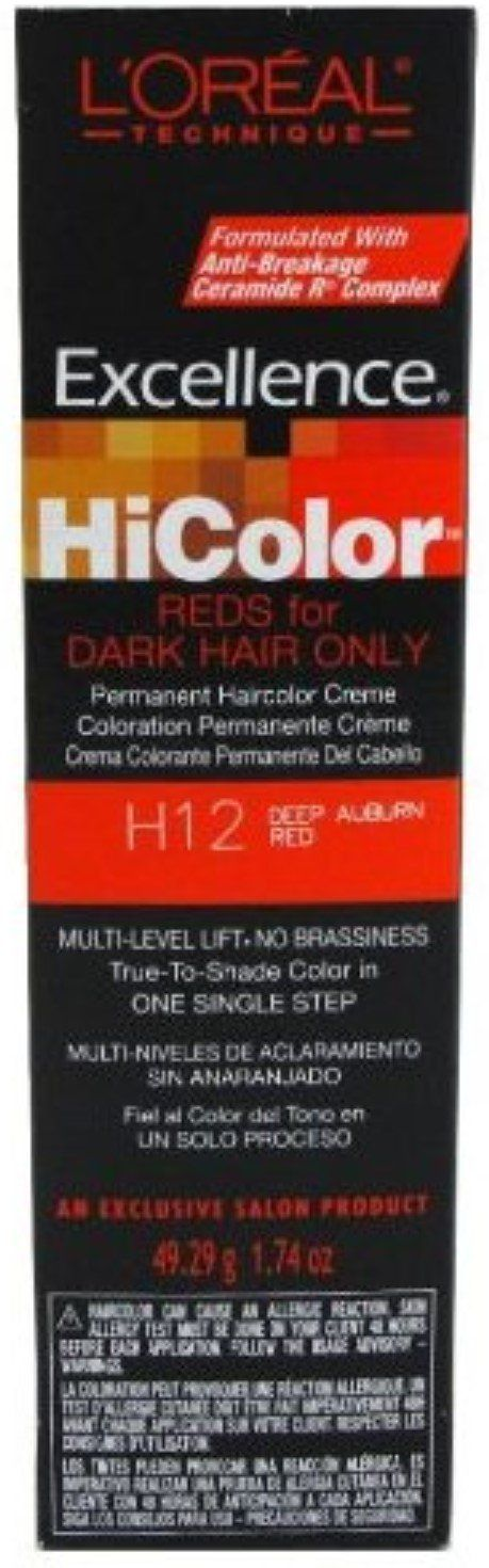 L'Oreal Excellence HiColor   Deep Auburn Red Gallery