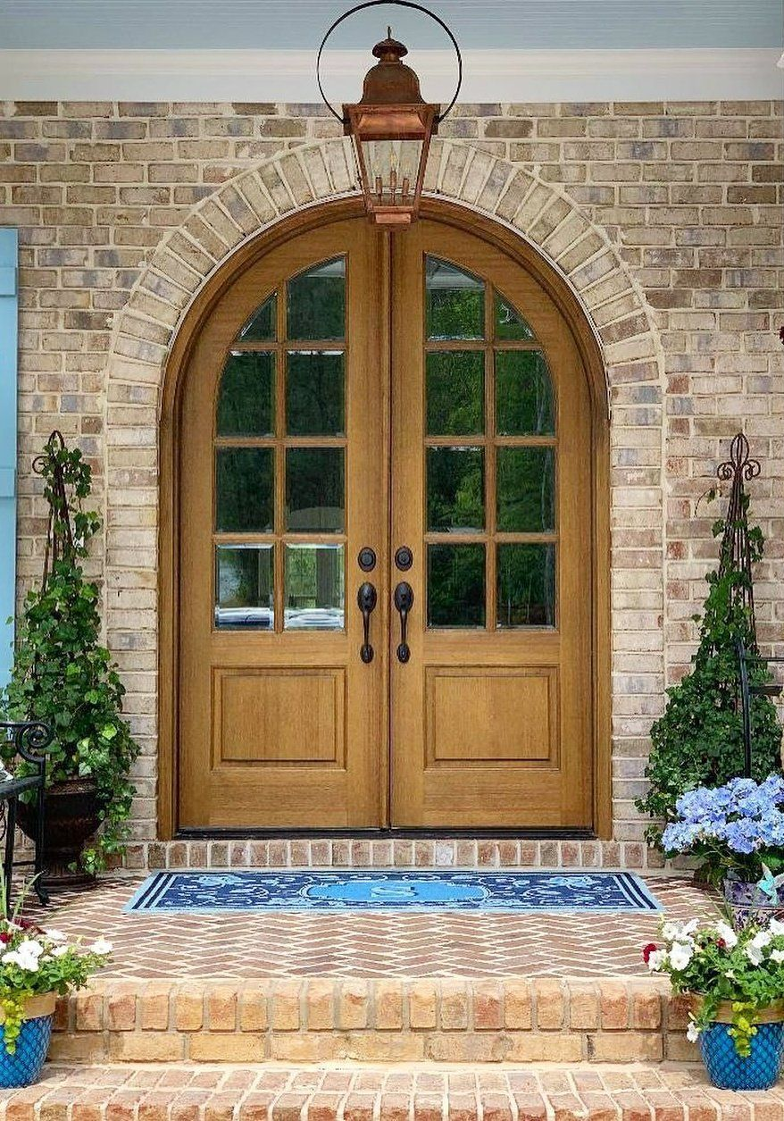 Lillian Monogrammed Door Mat Frontgate In 2020 French Doors Exterior Cottage Front Porches Double Doors Exterior