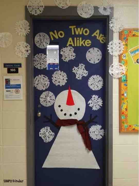 Kindergarten Activities for December #christmasdoordecorationsforschool