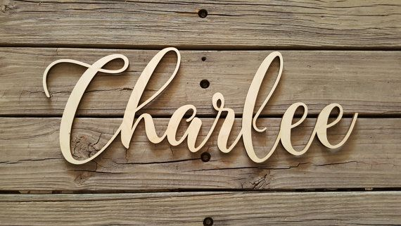 Unpainted Wooden Name Sign - Wood Name Wall Hanging