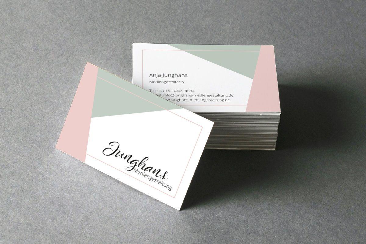 Pin Von Junghans Mediengestaltung Auf Design Visitenkarten