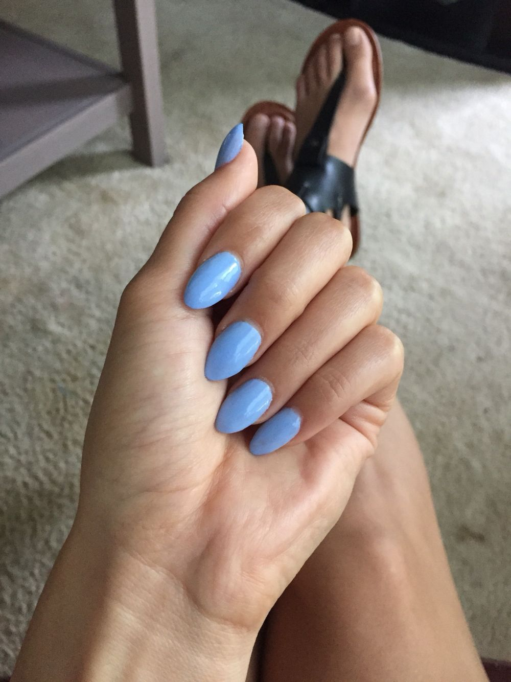 Acrylic Almond Nails Essie Bikinisoteeny Spring Almond Acrylic Nails Baby Blue Nails Baby Blue Acrylic Nails