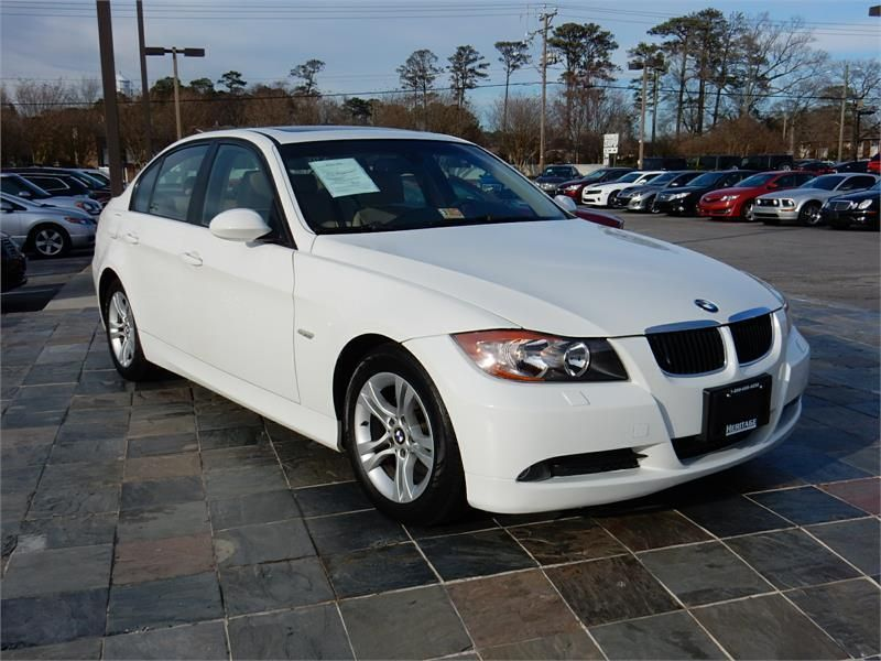 2008 BMW 328XI AWD 73690 miles, White exterior color with