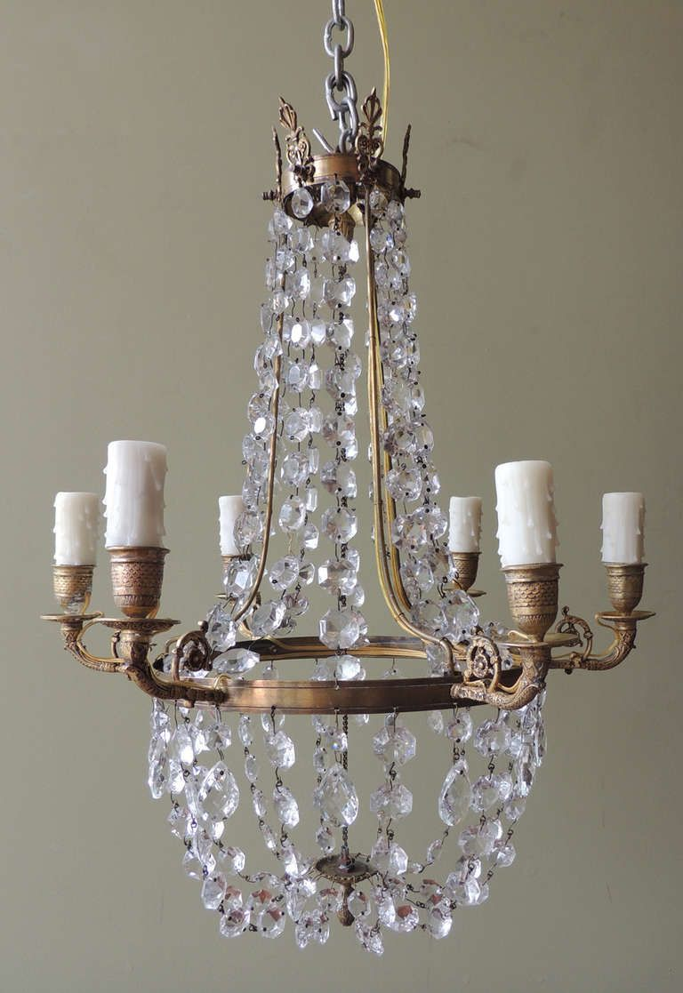 Late 18th c english regency crystal and brass chandelier regency 1790s english regency chandelier from a unique collection of antique and modern chandeliers and pendants mozeypictures Choice Image