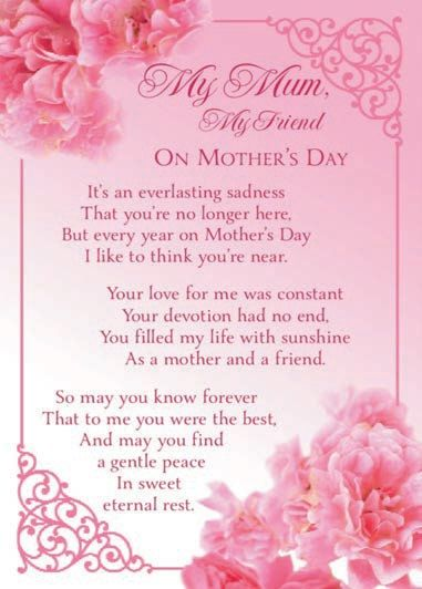 Mothers Day Cards Mom in heaven, Mother's day in heaven
