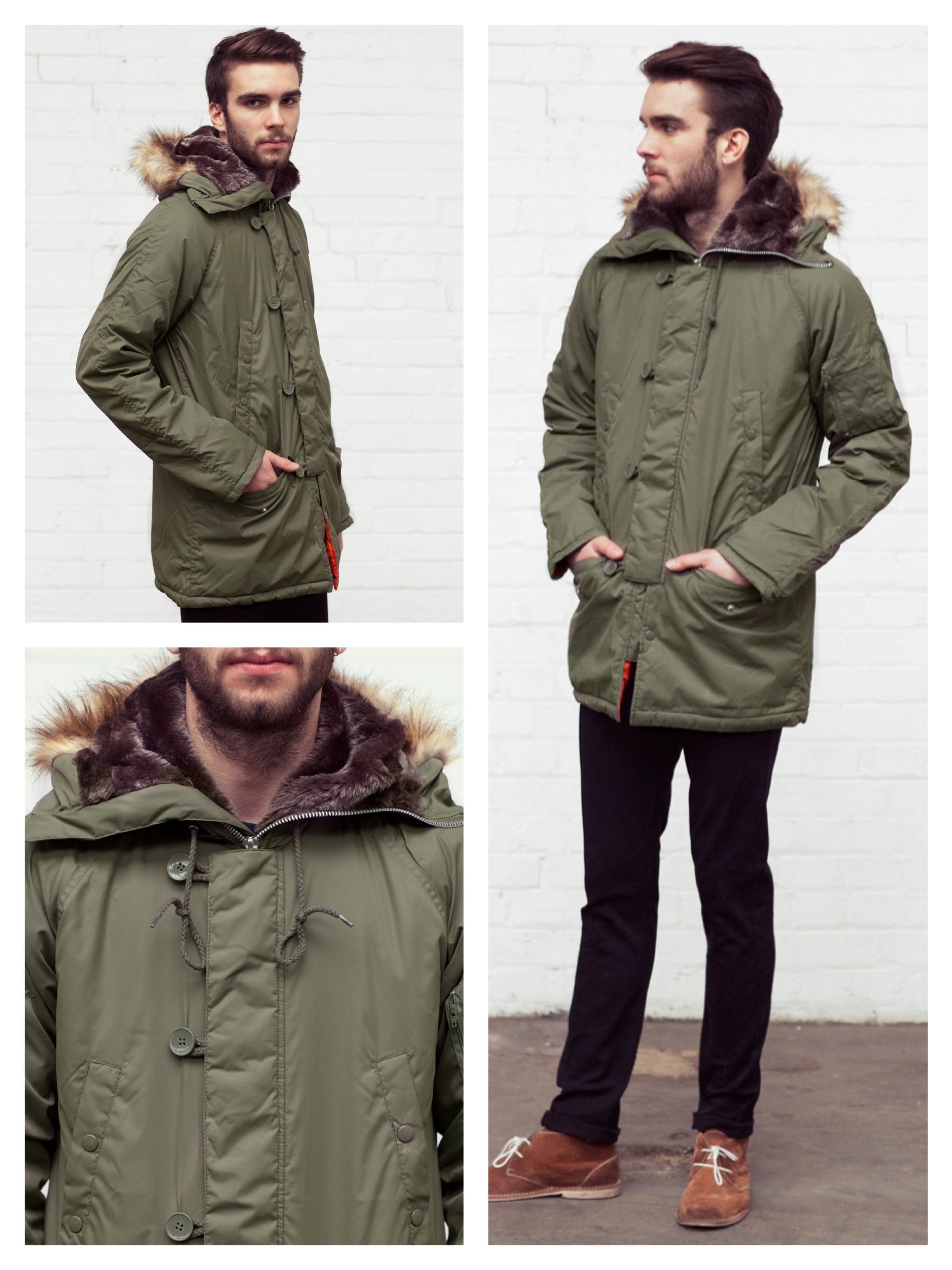 Today's Daily Fix: Old School Parka Green    £50    http://www.phixclothing.com/school-parka-green-p-3456_7_8.html