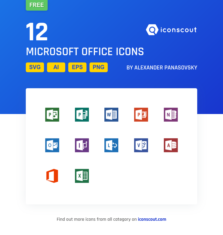 Download Download Microsoft Office Icon pack - Available in SVG ...