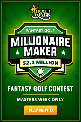 The Draftkings Millionaire Maker Fantasy Golf Contest Is Coming To The Masters This Year Are You Ready Golf Contest Fantasy Golf Fantasy