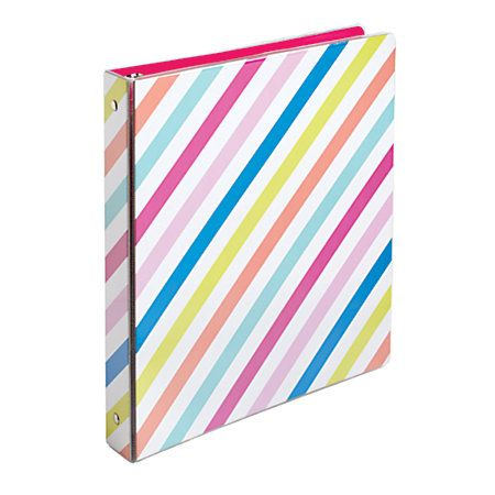 Divoga Binder Sweet Smarts Collection 1 Rings Rainbow Stripes