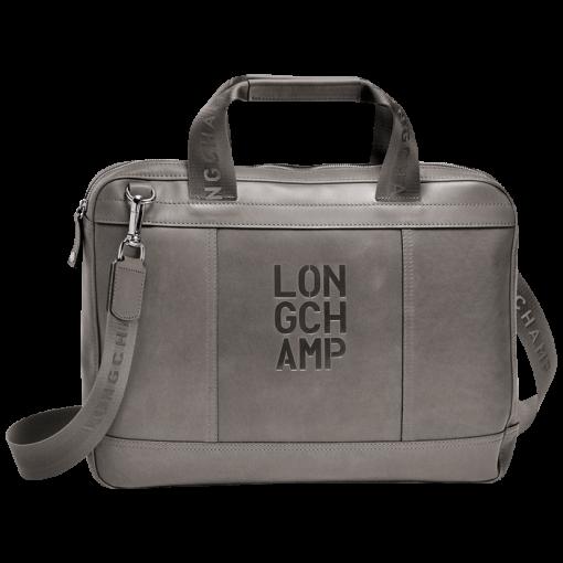 Document holder - Cavalier - Handbags - Longchamp - Mocha - Longchamp  United-States af3814bad09ea