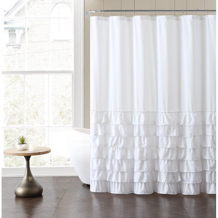 Peeples Ruffle Shower Curtain | Ruffle shower curtains and Tubs