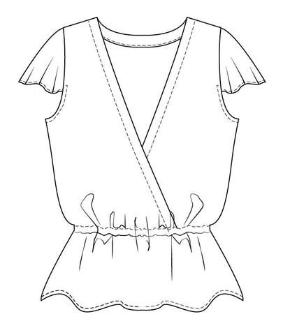 Wardrobe by Me- Hera summer top PDF sewing pattern for women | To ...