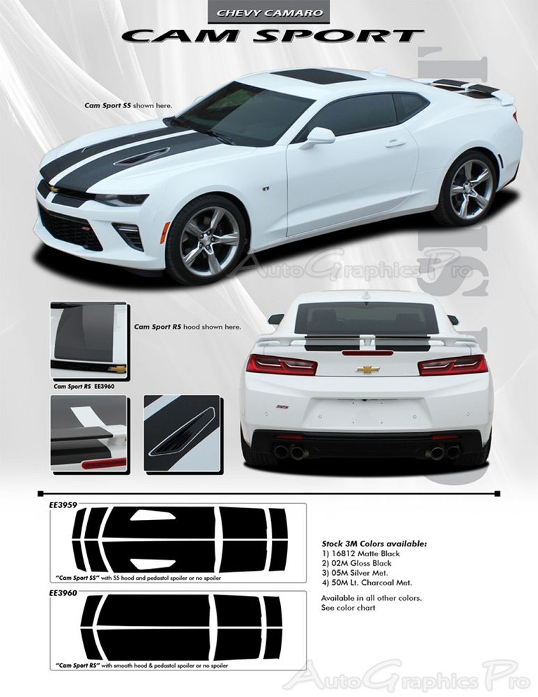 2016 Chevy Camaro Cam Sport Oem Factory Style Rally And Racing Stripes Kit