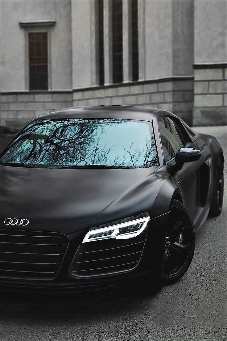 Audi R8 Matt Black Supercar Supercars Audi R8 Luxury Sports Cars