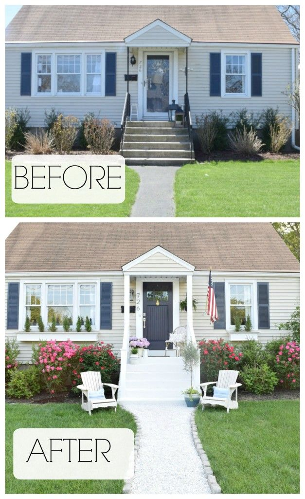 summer home tour exterior reveal blogger home projects we love exterior remodel house front. Black Bedroom Furniture Sets. Home Design Ideas