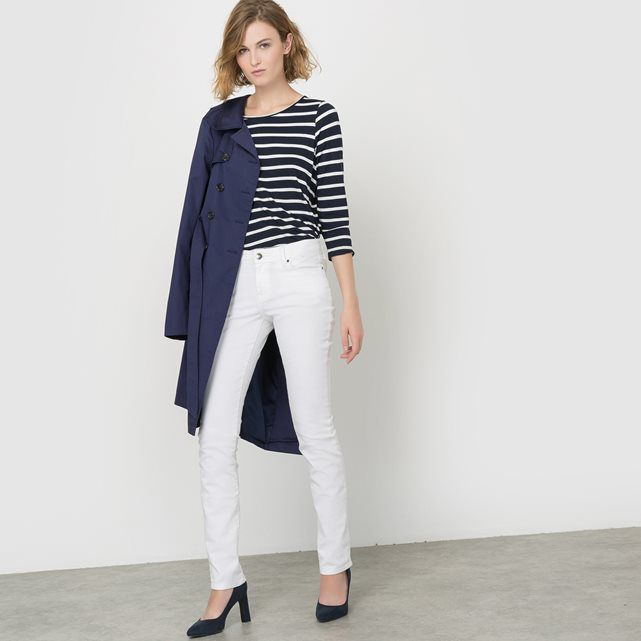 Breton T-Shirt with Bow Back