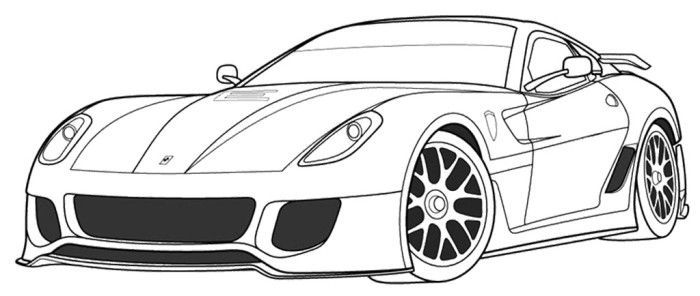 Ferrari Car Coloring Pages Berlinetta
