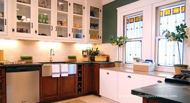 Stained Glass Kitchen Windows & Cabinets Dallas