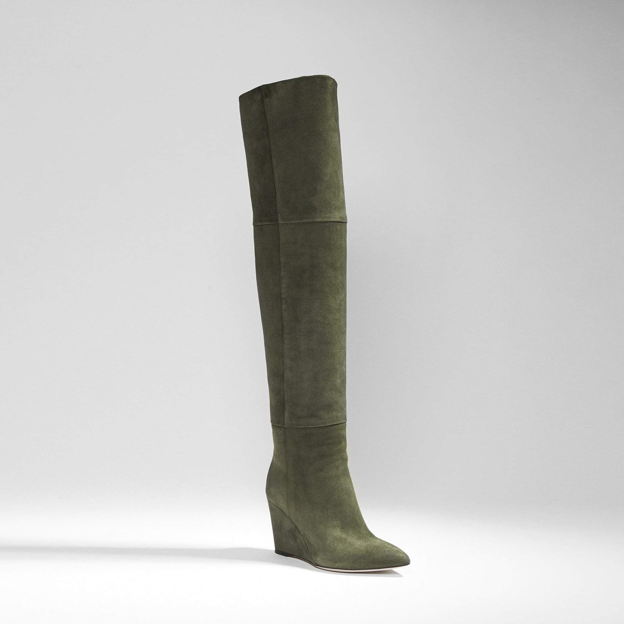 eab975eaba10 Verve Suede Over The Knee Wedge Boot