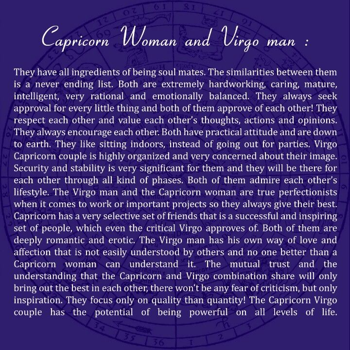 Capricorn Men In Love With Virgo Woman