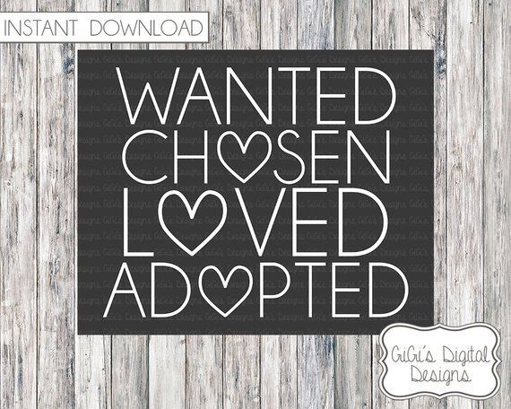Adoption Announcement, Adoption Day, Adoption chalkboard sign, Adoption Printable, Printable Chalkboard, Digital Prints, Adoption Sign #adoptionquotes