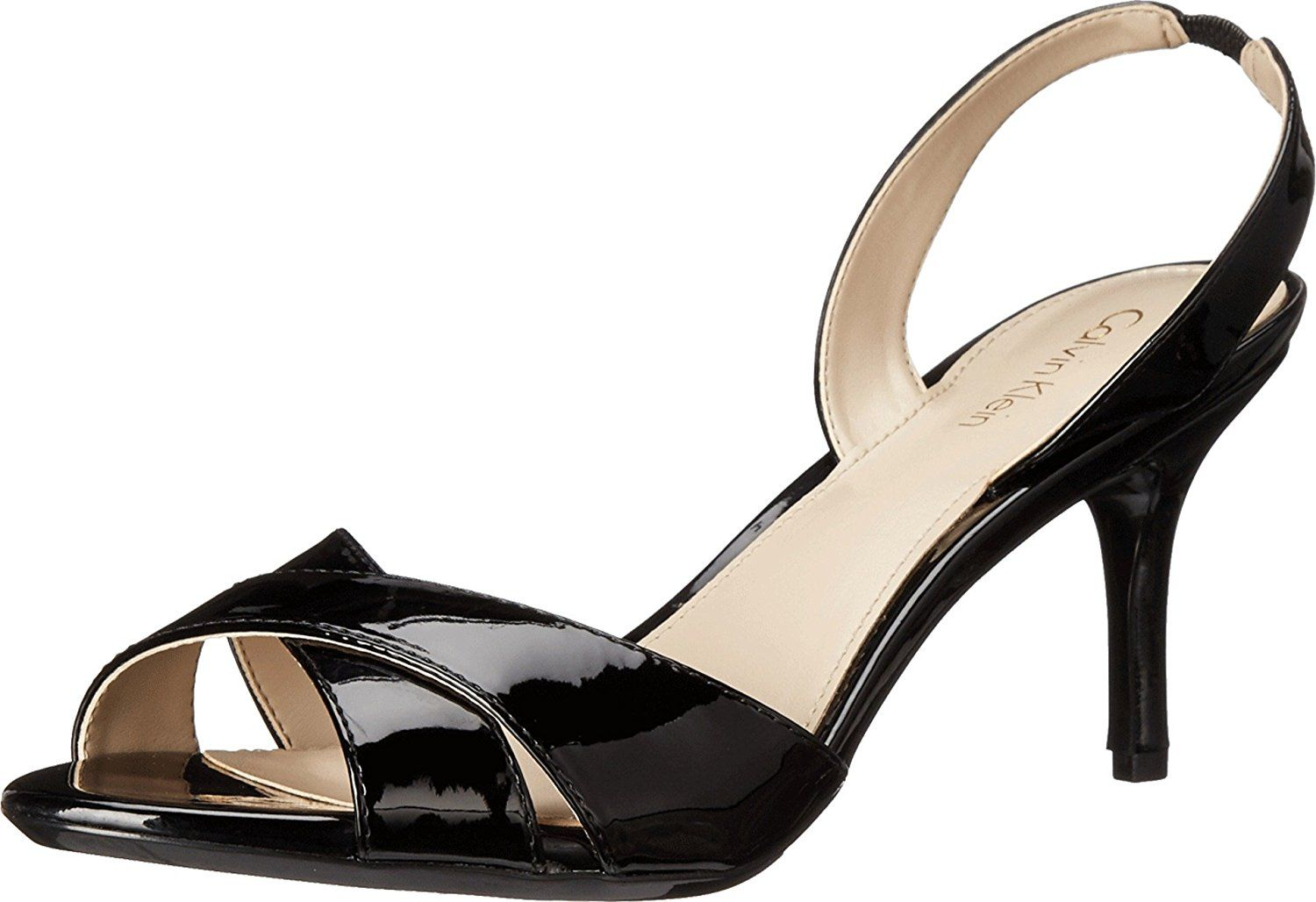 Calvin Klein Women's Lucette Black Patent Sandal * You can get more details  by clicking on