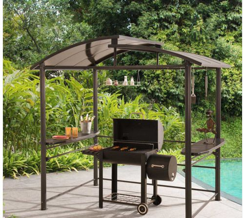 Backyard Grill Canopy Steel Gazebo Outdoor Patio Shelter Barbecue Cookout  Awning #Sunjoy