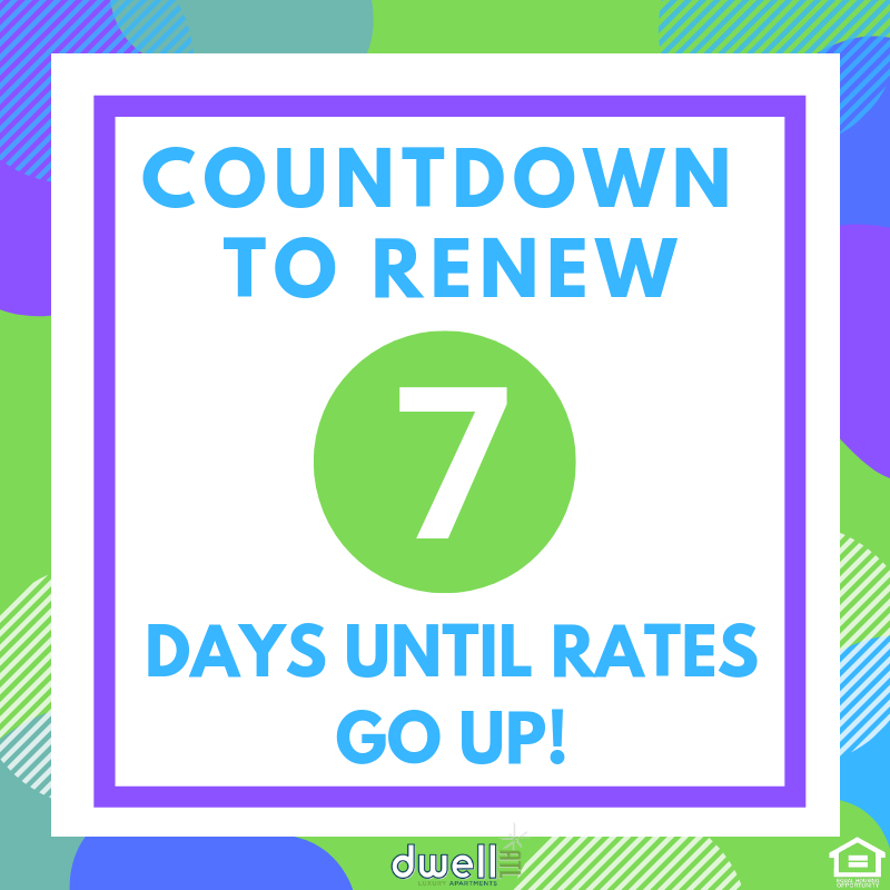 Only 7 days left until rates go up! Make sure to renew and ...