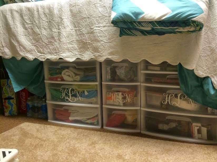Sophomore Dorm Room Bed Storage