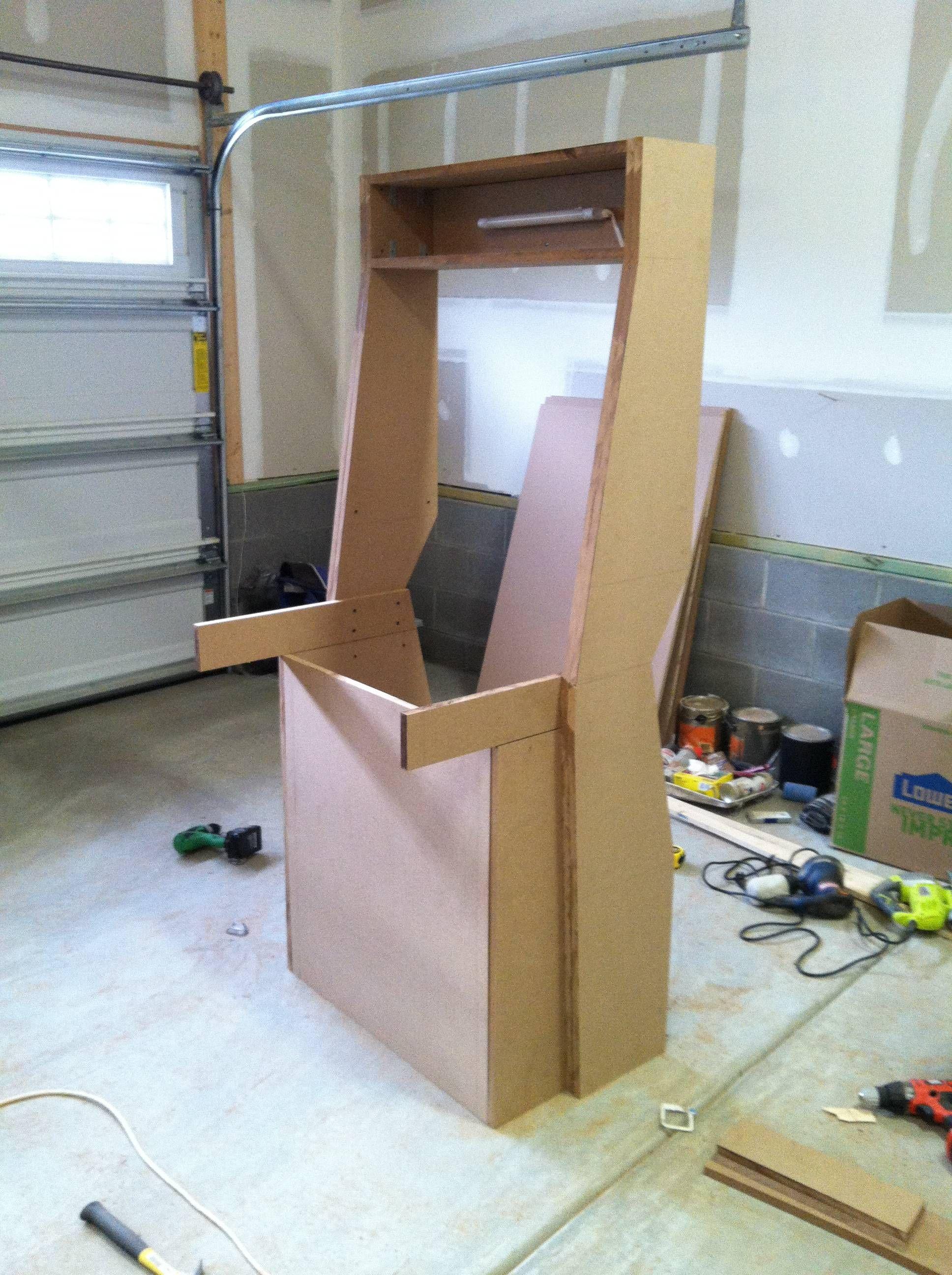 just finished my nintendo themed arcade cabinet home. Black Bedroom Furniture Sets. Home Design Ideas