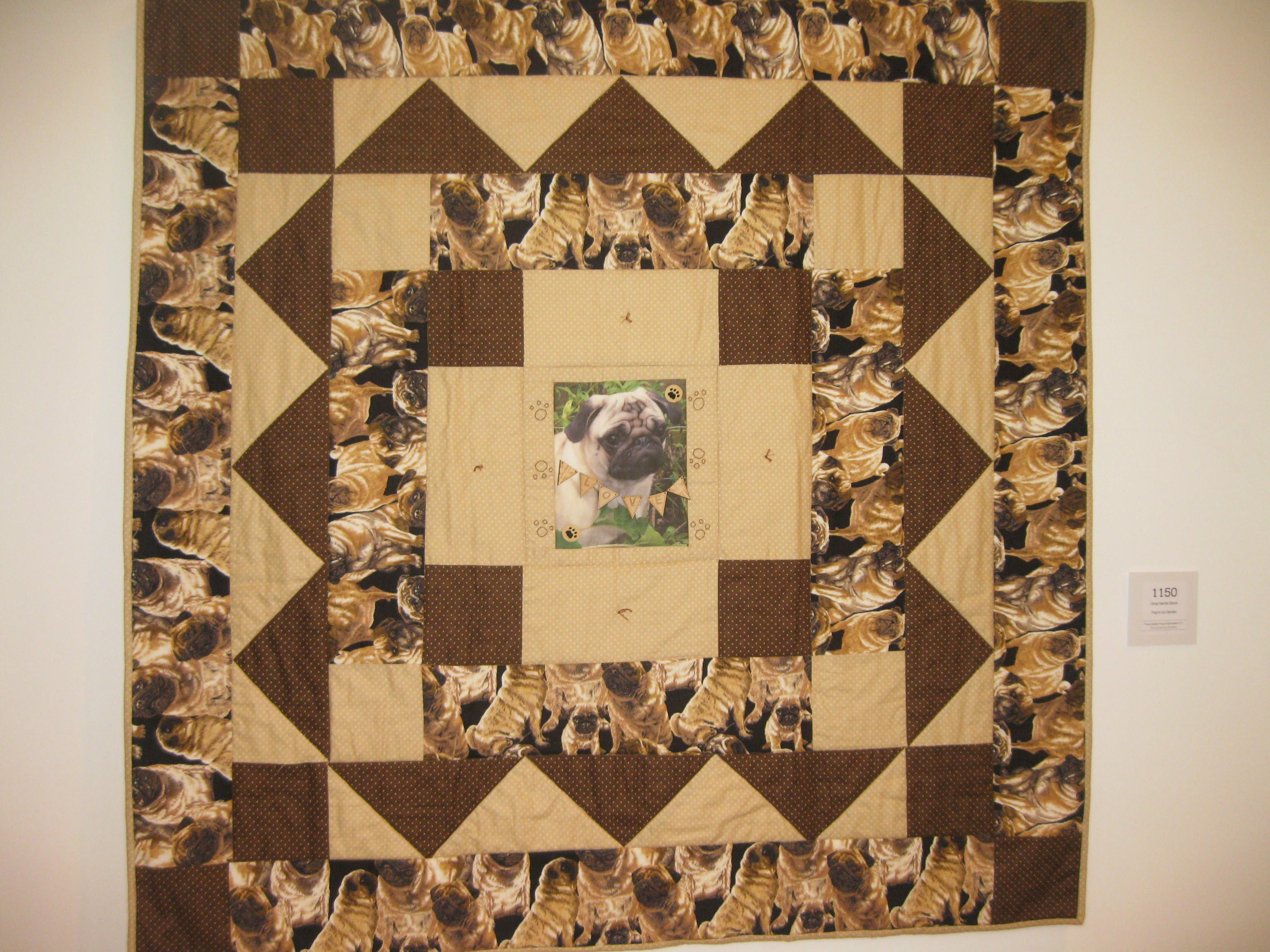 I bet you can guess the favourite animal of this young quilter maker! Pugs!!